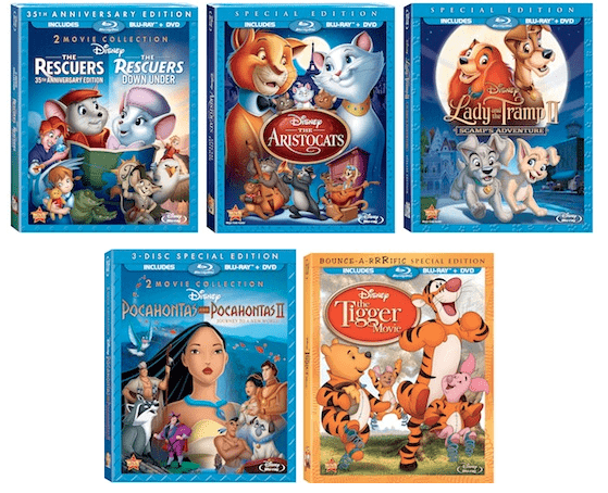 Disney Blu-Ray releases August 21