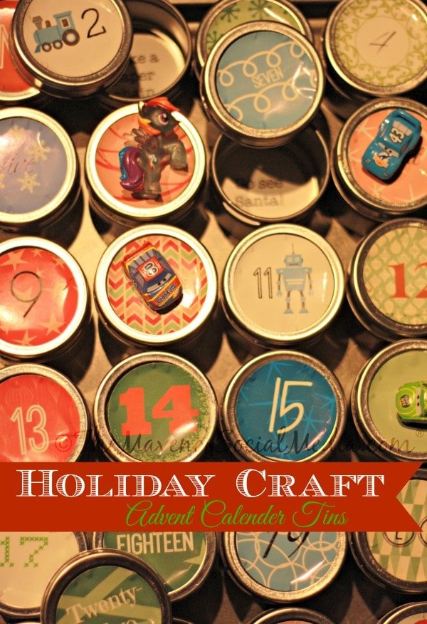 Holiday Craft Advent Calendar Tins ~ The Maven of Social Media®