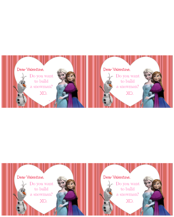 Do You Want To Be a Snowman - Frozen Valentine TEMPLATE- The Maven of Social Media®