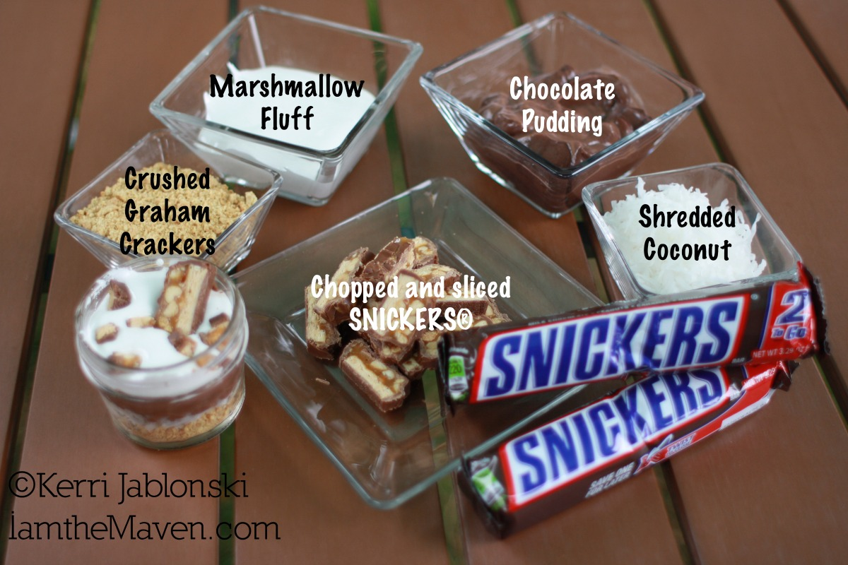 Ingredients for SNICKERS dip #Refuel2Go #shop