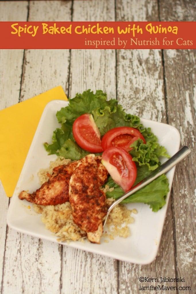 Spicy Baked Chicken inspired by #NutrishForCats #Sponsored #MC
