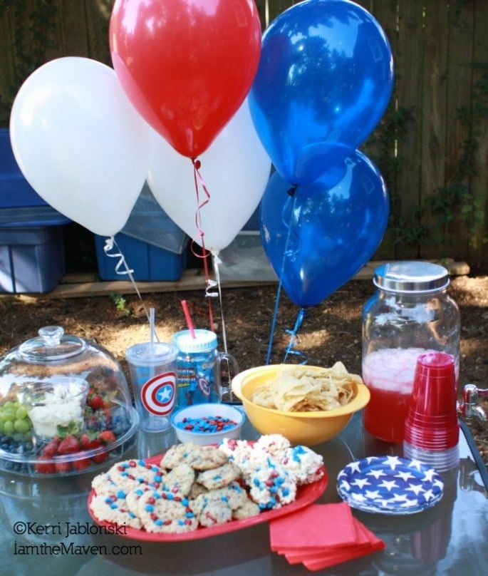 Captain America Party Food #HeroesEatMMs #CollectiveBias #Shop