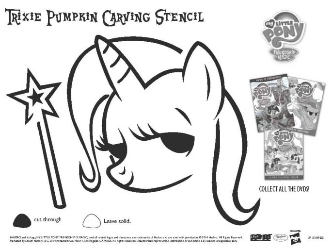 My Little Pony Pumpkin Stencil