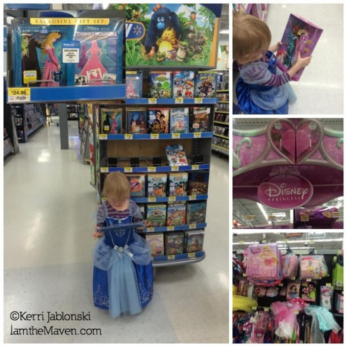 Shopping for princess costumes and Sleeping Beauty at Walmart #DisneyBeauties #shop