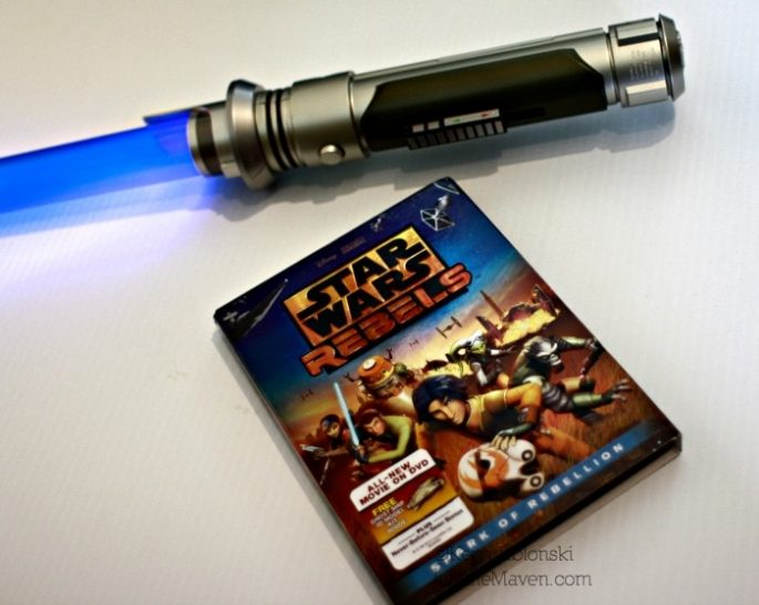 Star Wars DVD and light saber #SparkRebellion #Shop