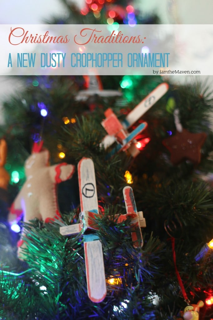 New Dusty Crophopper Ornaments are on our tree! #PlanestotheRescue #ad #cbias