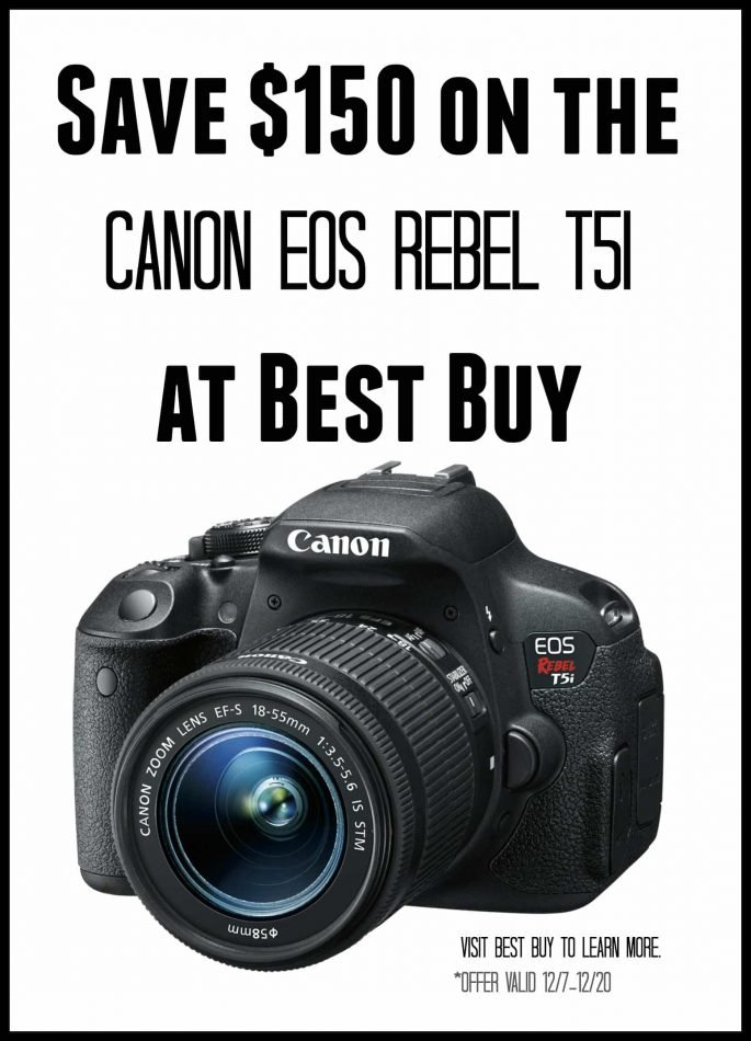 Save $150 on the Canon Rebel T51 at Best Buy @BestBuy #CanonatBestBuy #HintingSeason @CanonUSAimaging