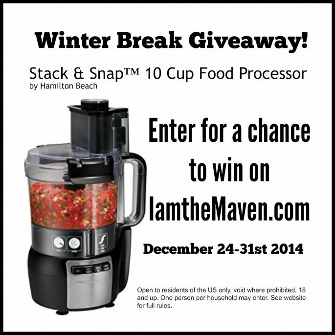 Don't miss your chance to win Hamilton Beach's #StackandSnap Food Processor! #Sponsored