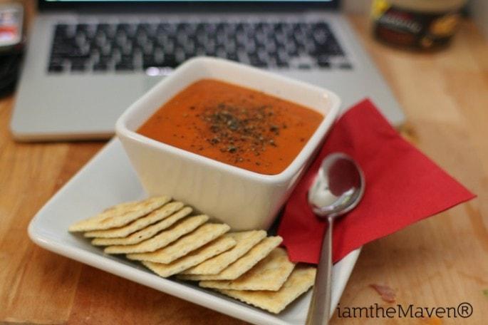 My husband's favorite - tomato basil! #LoveLunchIn #ad