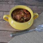 sausage soup recipe in bowl